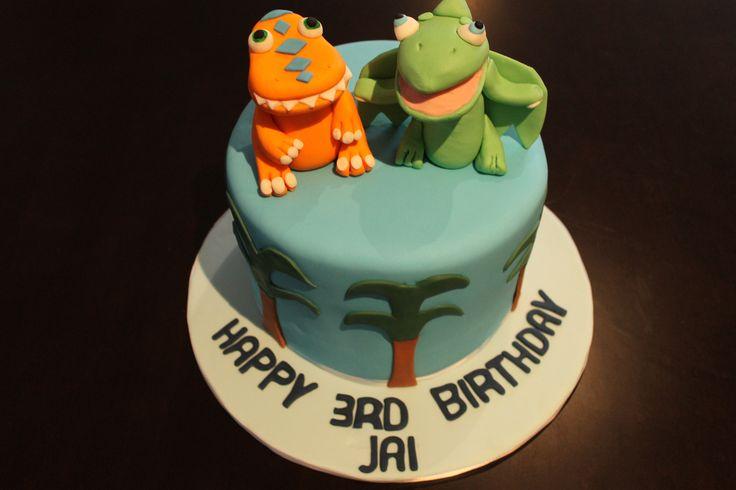 The Dinosaur cake!