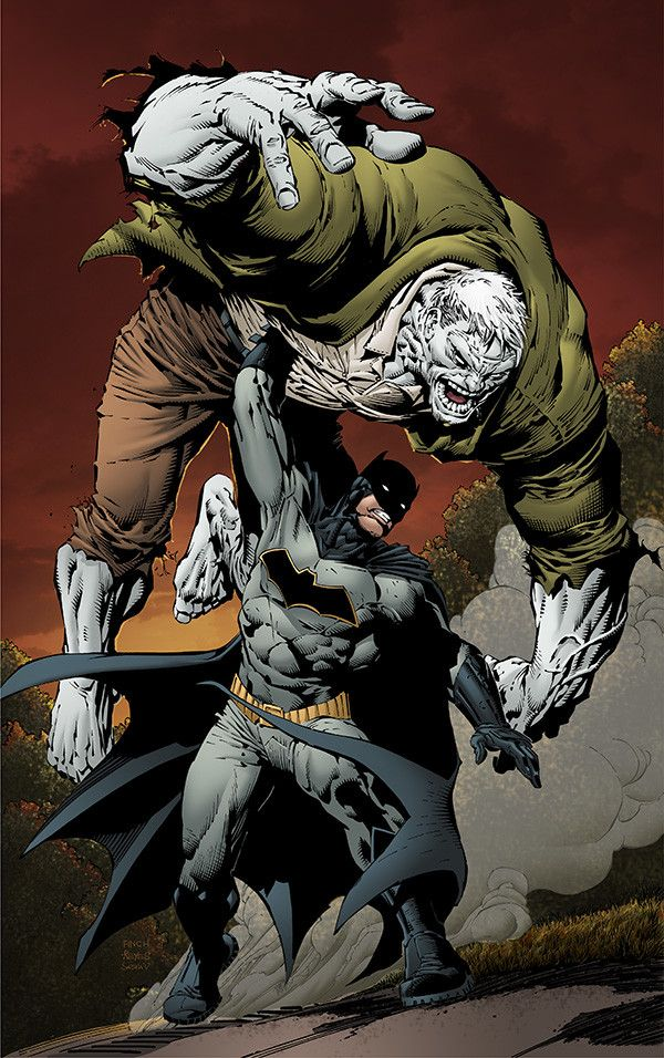 DC Comic Book Artwork • Batman Vs Solomon Grundy by David Finch and Jimmy Reyes. Follow us for more awesome comic art, or check out our online store www.7ate9comics.com