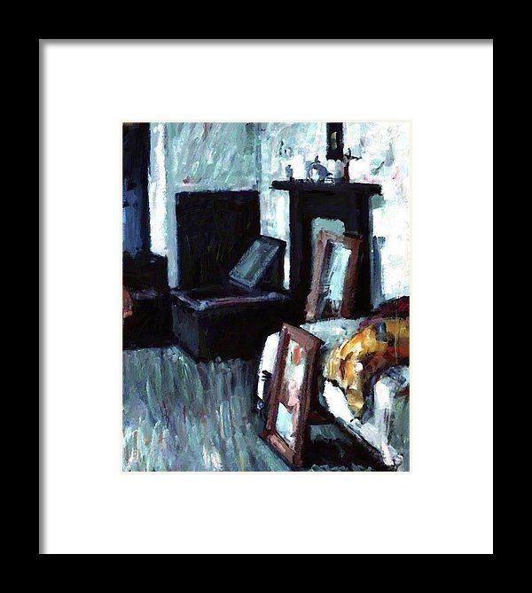 Studio Framed Print featuring the painting Studio Interior by Peploe Samuel