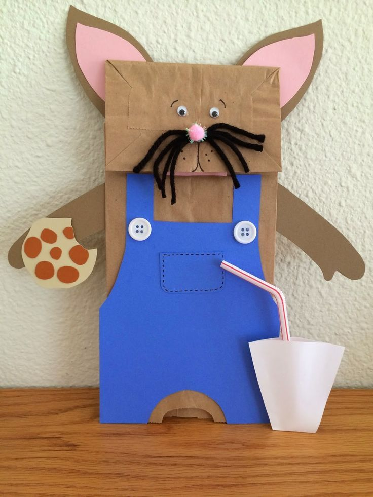 """If You Give A Mouse A Cookie"" by Laura Numeroff. Paper bag mouse craft…"