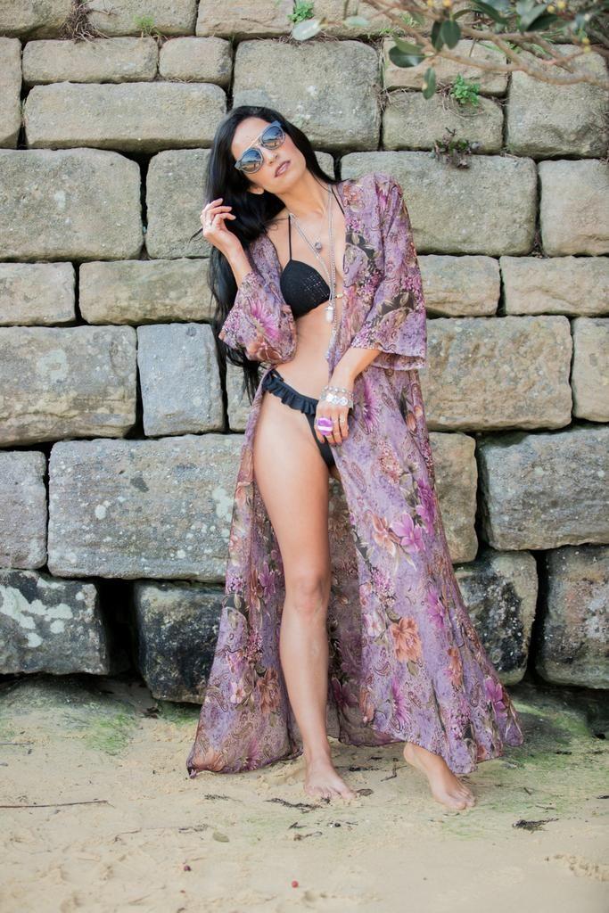Andalusia Kimono Jacket - Lavender