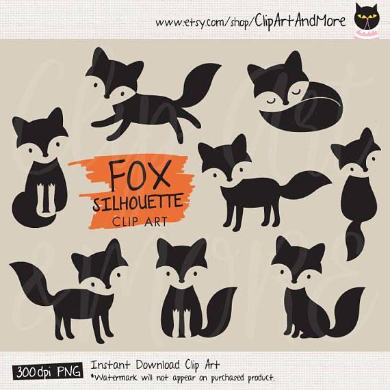 Fox Silhouette Clipart Clip Art Fox Stencil Clipart Fox Shape Etsy Fox Silhouette Clip Art Fox Illustration