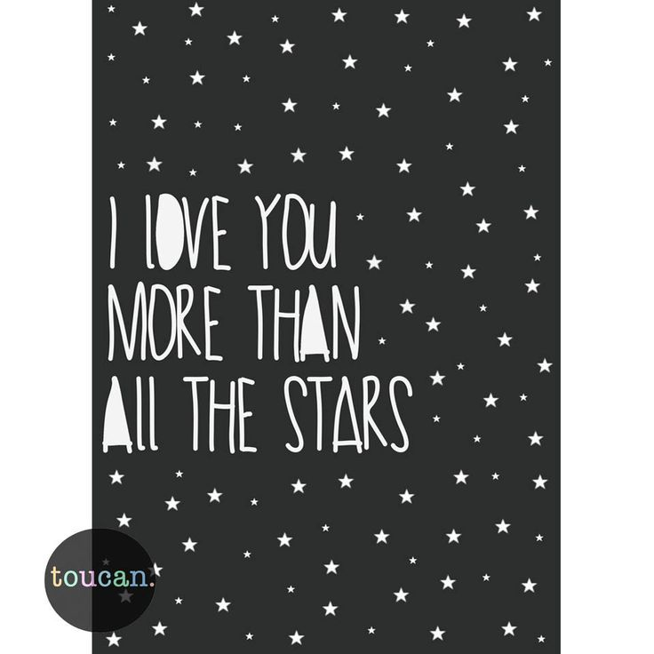 Love You More Than All The Stars Print – Piccolo Home