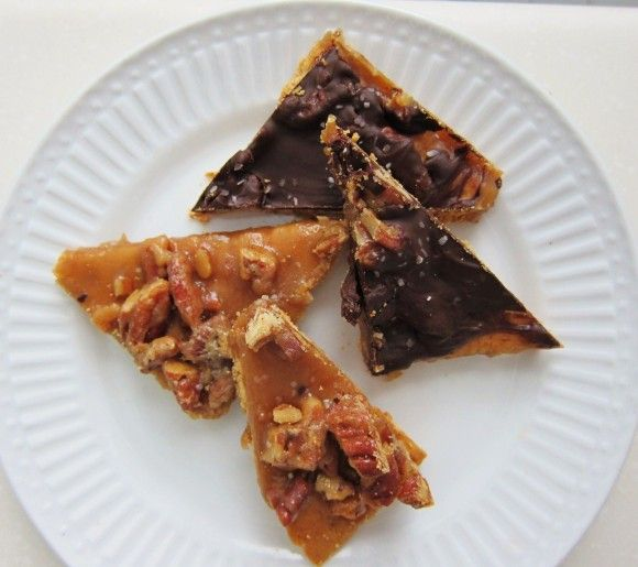 Salted Caramel Pecan Bars Easy recipe. Called for heavy cream, I used evaporated milk and white chocolate chips and walnuts. My family loved them !
