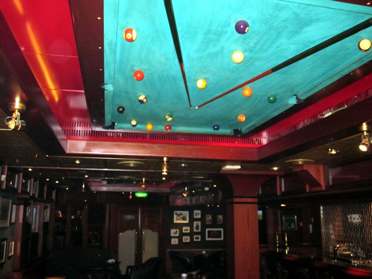 Ceiling with pool table in the lounge.  http://cigarczars.com/cruising-cigars.htm