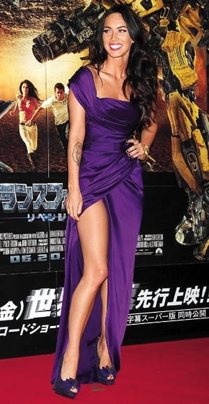 Megan Fox in Japan Movie Premiere gorgeous Purple Gown