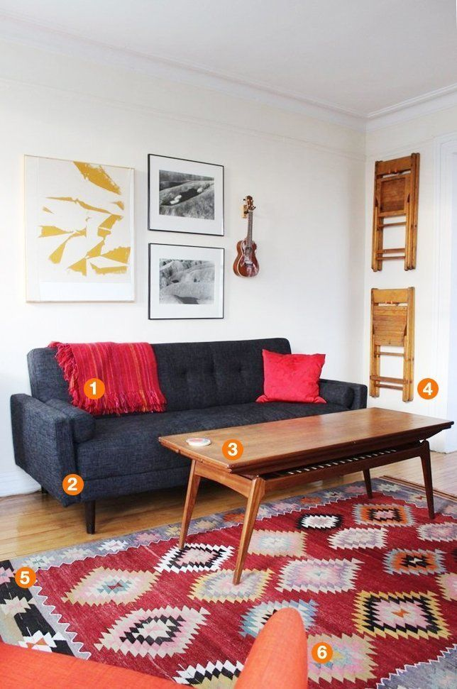 Shop the Room: Alana's Cozy Living Room// Apartment Therapy  -- Couch is Daybed from Urban Outfitters
