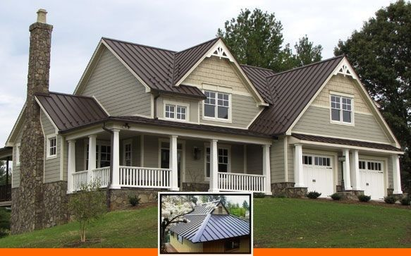 Different Colors Metal Roofing And Discount Metal Roofing Colors In 2020 Metal Roof Houses Brown Roof Houses Tin Roof House