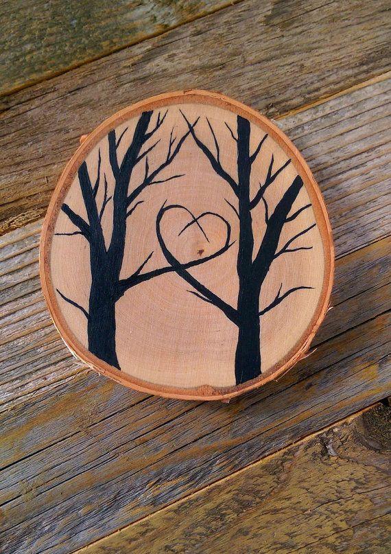 Love Tree Stump Medium by LittleRiverDecor on Etsy