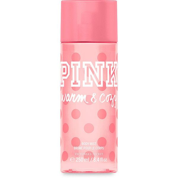 PINK Warm & Cozy Body Mist (320 MXN) ❤ liked on Polyvore featuring beauty products, fragrance, nude, victoria secret pink fragrance and victoria secret pink perfume
