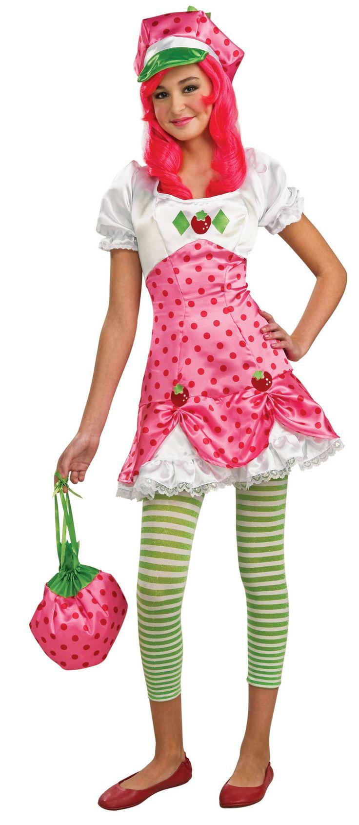 strawberry shortcake strawberry shortcake tween costume. Black Bedroom Furniture Sets. Home Design Ideas
