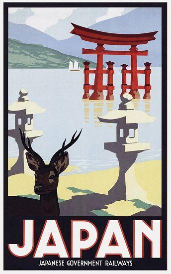 Das+Kunstwerk+Japan:+Advertising+poster+for+Japanese+Government+Railways+-++liefern+wir+als+Kunstdruck+auf+Leinwand,+Poster,+Dibondbild+oder+auf+edelstem+Büttenpapier.+Sie+bestimmen+die+Größen+selbst.