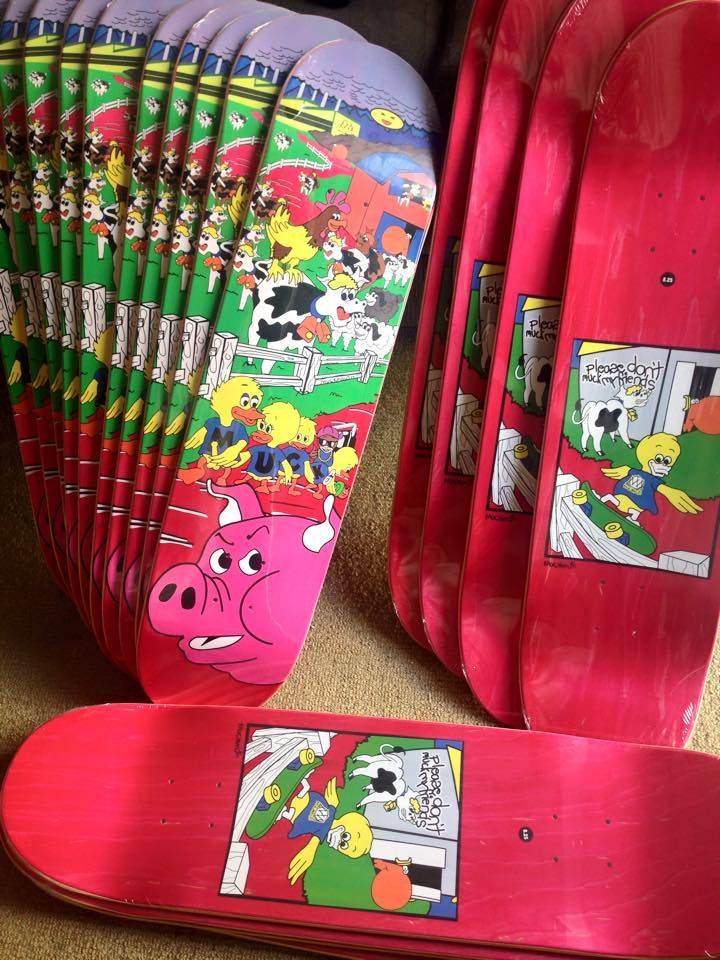 MUCK VALLELY decks out now  Contact alex@muckmouth.com to order