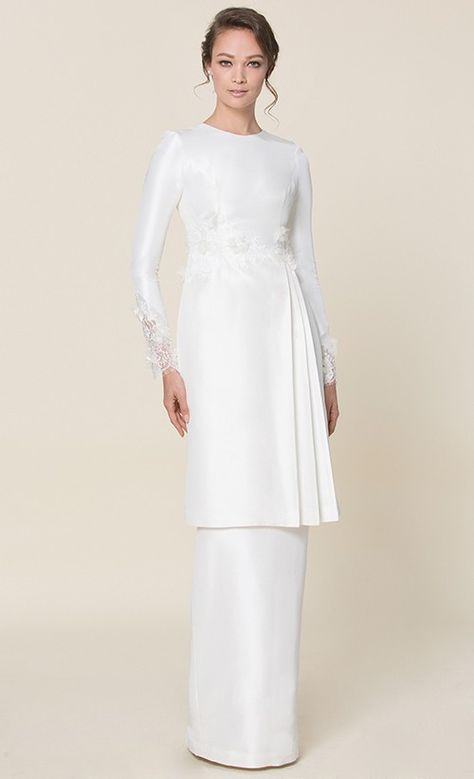 nh by NURITA HARITH étoile -  LILY Kurung in White | FashionValet