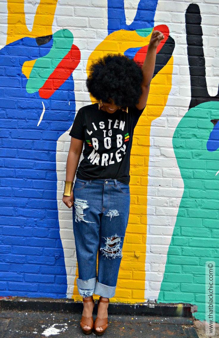 That Black Chic: Bob Marley & Morgan Boyfriend Jeans a match made in heaven! [Sew What Series: Morgan Jeans Closet Case Patterns]