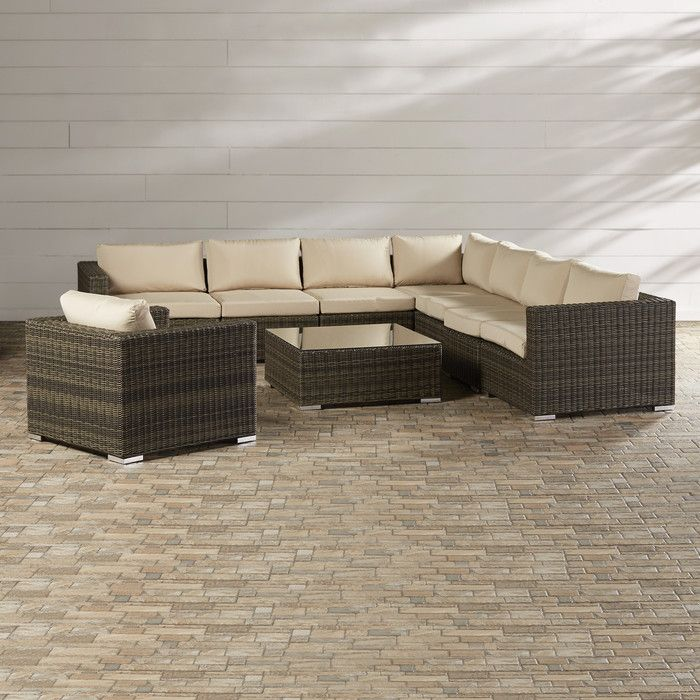 Brayden Studio Kloss 9 Piece Deep Seating Group With Cushion U0026 Reviews |  Wayfair
