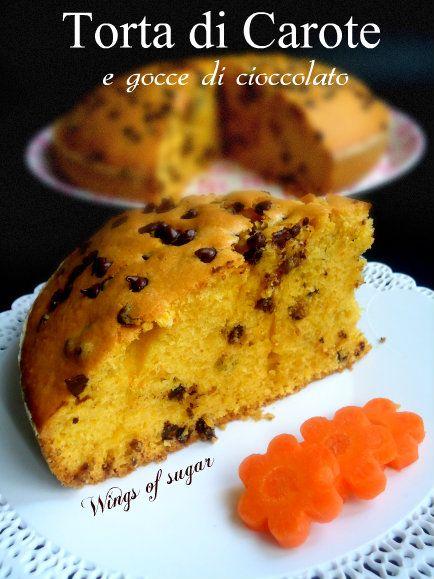 Torta soffice di carote e gocce di cioccolato ricetta