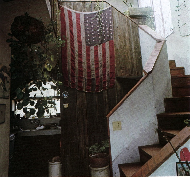 : Bohemian Interiors, Favorite Places, Flags, Dream, Constantly Redesigning, American, American Flag, Americanflag Foyer, Foyer White