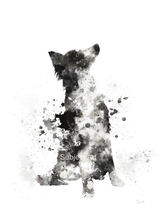Image Result For Minimalist Border Collie Tattoo Border Collie