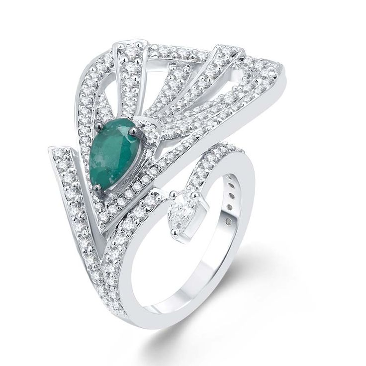 Green Spring Drop Ring  Product Code : ADR1400015 Type : Green Hydro, Swarovski Color : Green  #Rings, #SilverRingsForWomen, #SilverRingsForGirl, #BuySilverRingsOnlineIndia, #SilverRingsShopping, #SilverRingsShoppingOnline, #DesignerRings, #DesignerSilverRingsOnline, #BuyDesignerSilverRings