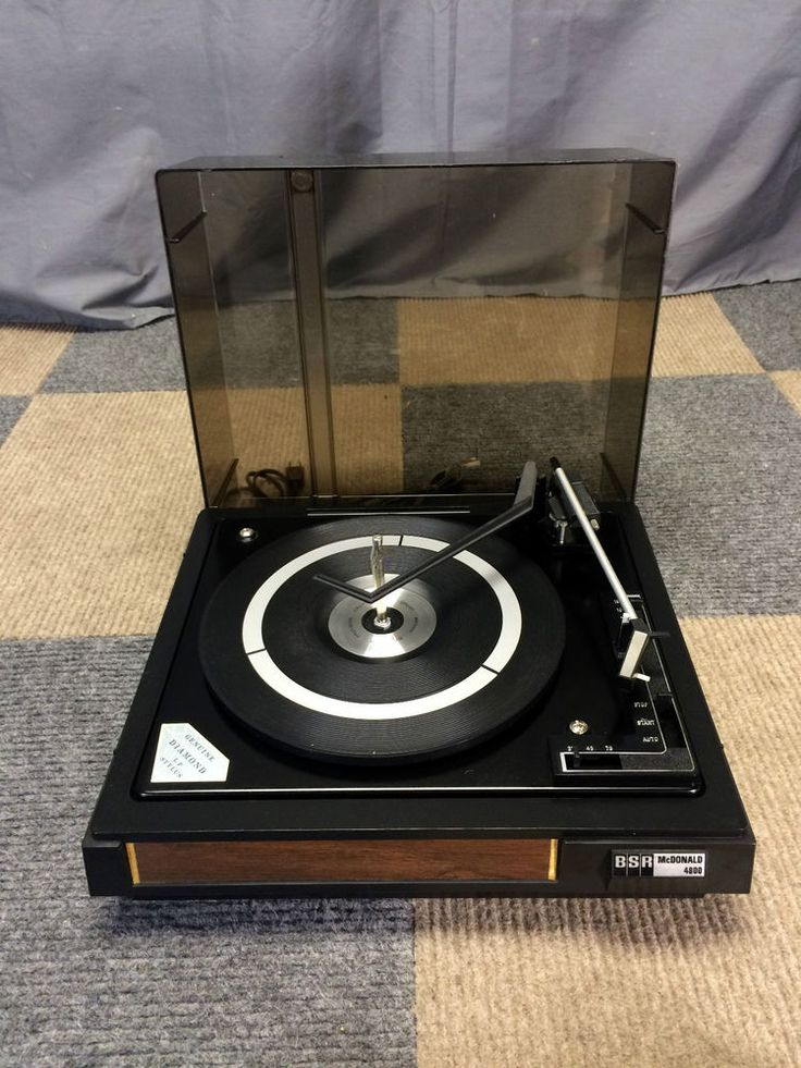 Works Perfectly Vintage Bsr Mcdonald 4800 Turntable Record