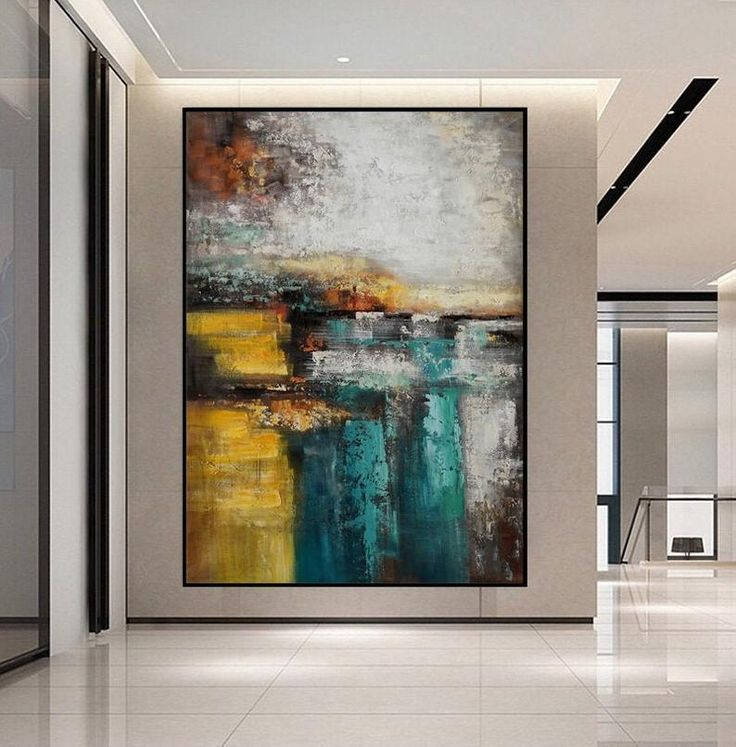 Extra large acrylic abstract painting on canvas oversize
