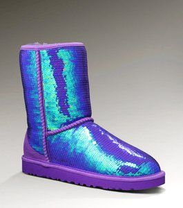 Sparkly Purple Blue UGG Sequin Boots $129.99<<totaly wish i would have seen these before j got my black ones!!