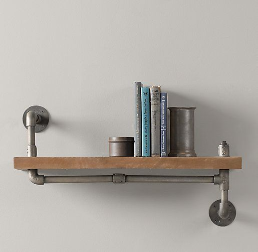 industrial pipe shelving industrial pipe shelf shelving amp storage restoration 28460