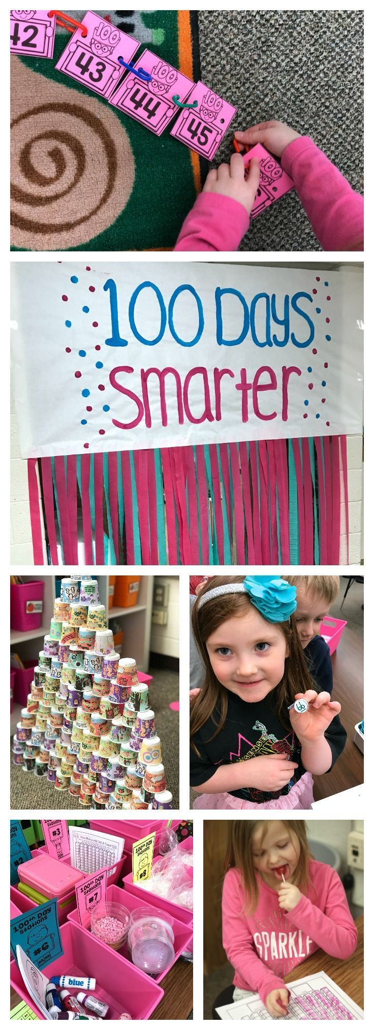 Free printables, activities and ideas for you classroom 100th Day of School Celebration.