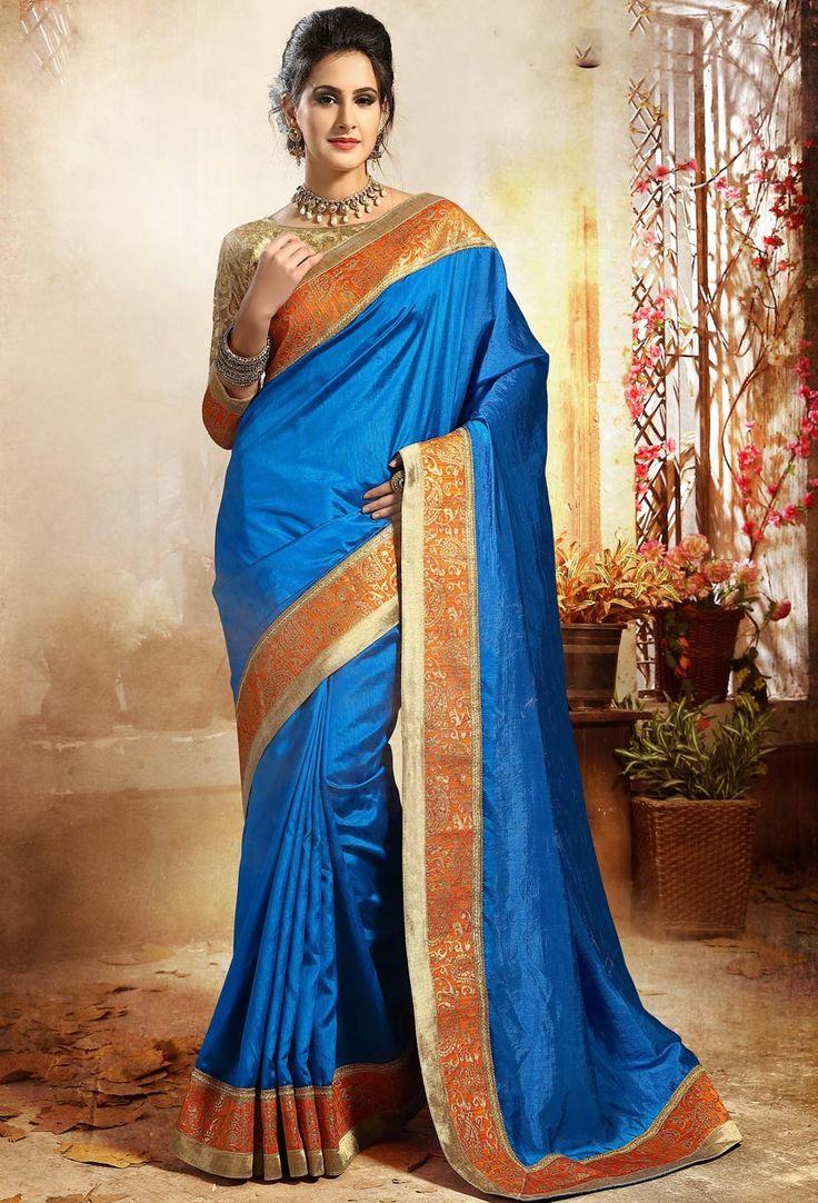 #Blue #Dupion #Silk #Designer #Saree #nikvik  #usa #designer #australia #canada #freeshipping #fashion #dress #sarees #sale