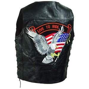 para hombres cuero negro en vivo para montar chaleco para motociclista eagle ee uu bandera americana ee uu - Categoria: Avisos Clasificados Gratis  Estado del Producto: Nuevo con etiquetas Para hombres Cuero Negro En Vivo Para Montar Chaleco Para Motociclista Eagle EE. UU. bandera AMERICANA EE. UU. Valor: USD19,99Ver Producto