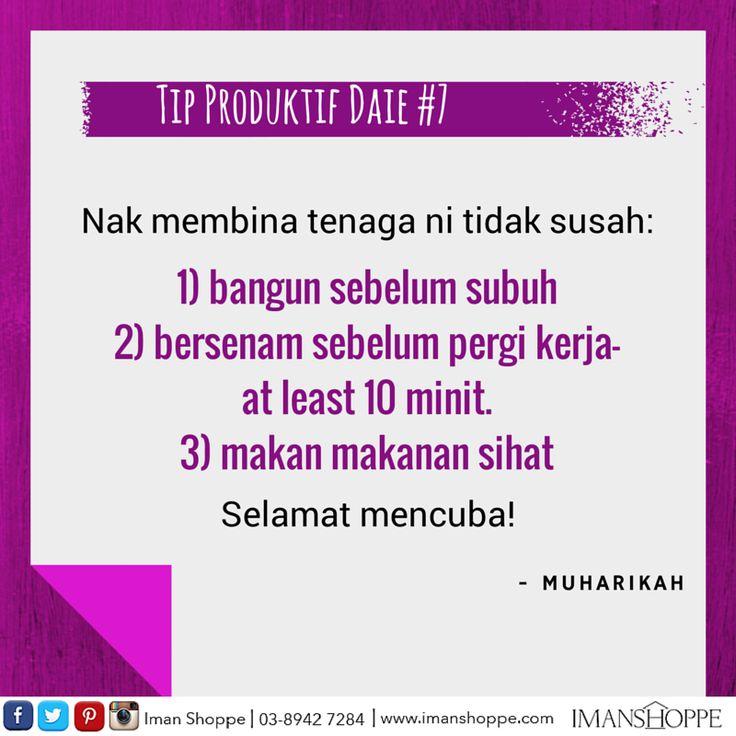 Selamat Mencuba! Tip Produktif Daie #7!   InsyaAllah kami akan 'share'kan tip - tip bagaimana untuk menjadi Daie yang Produktif dari masa ke semasa  :)