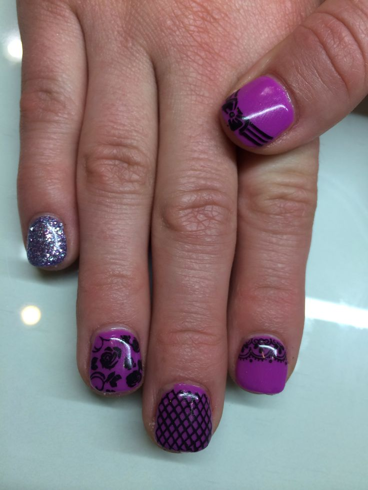 25 purple gel nails pinterest purple gel nails prinsesfo Gallery