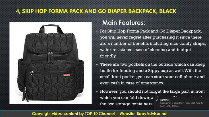 Top 10 Best Backpack Diaper Bag 2018. #baby #diaperbag #backpack