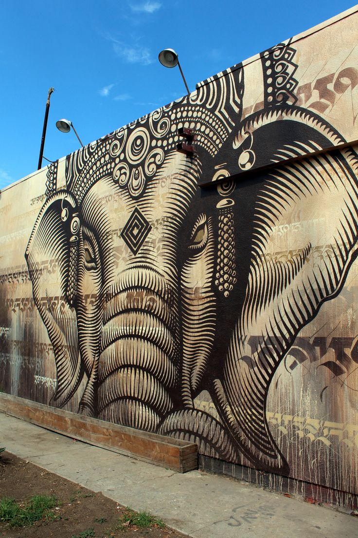 Lord Ganesha by Cryptik in Los Angeles, USA