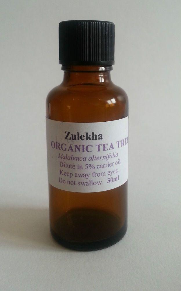 Organic Tea Tree Pure Essential Oil 30ml Zulekha Aromatherapy Care