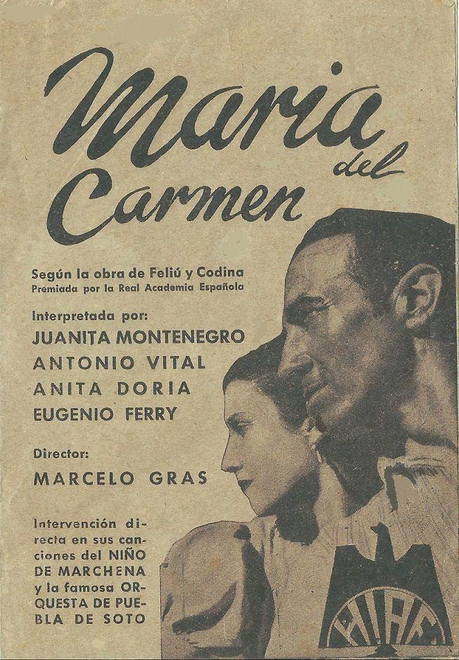 María Del Carmen 1936 Tt0250970 Esp Pgd01 Movie Posters Movies Poster