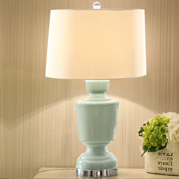 Современный Американский керамическая настольная лампа творчески гостиной в Европейском стиле настольная лампа исследование спальня прикроватные де купить на AliExpress