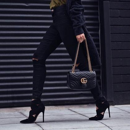 12 hot look με πρωταγωνιστή το μαύρο #StreetStyle | μοδα , news & super trends | ELLE