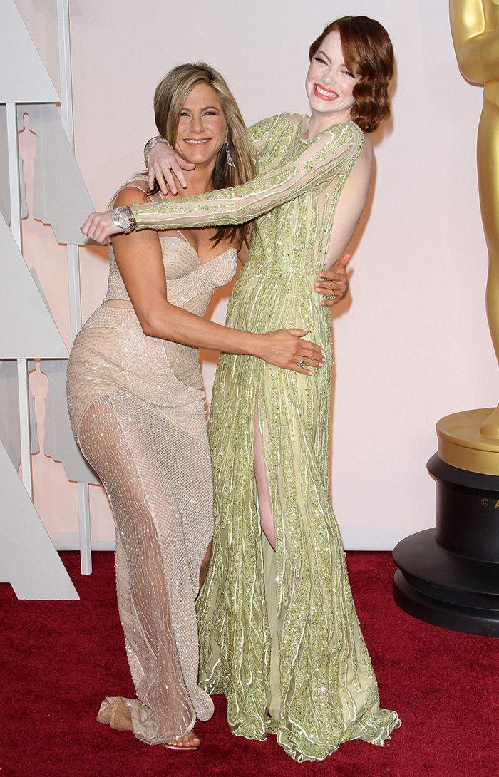 So happy and wonderfulJennifer Aniston and Emma Stone