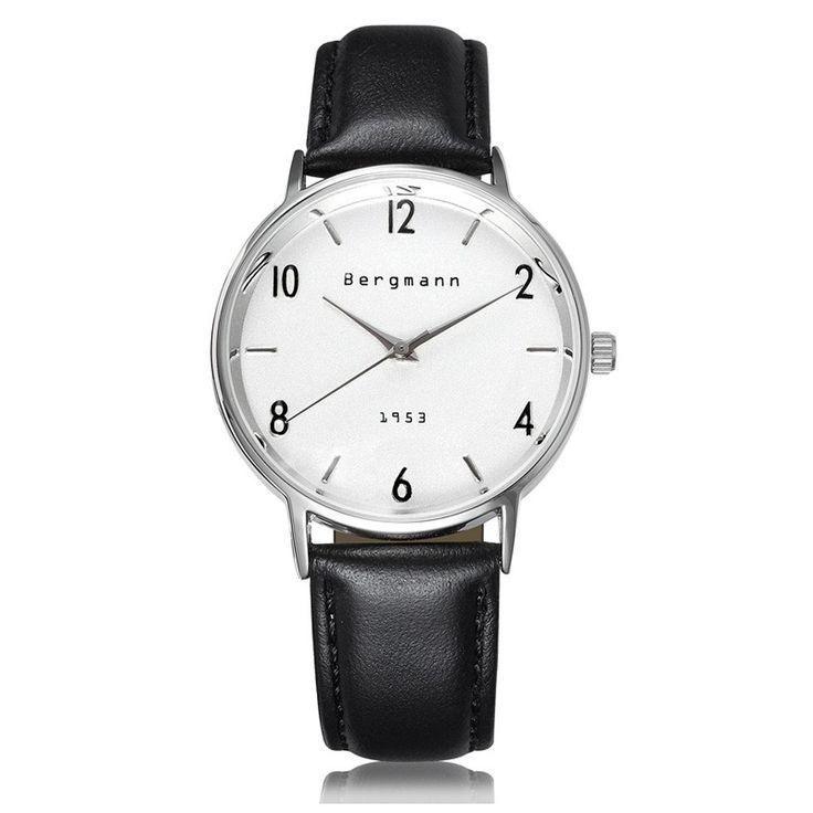 Brand Bergmann Bauhaus style Vintage White Men Women Watches