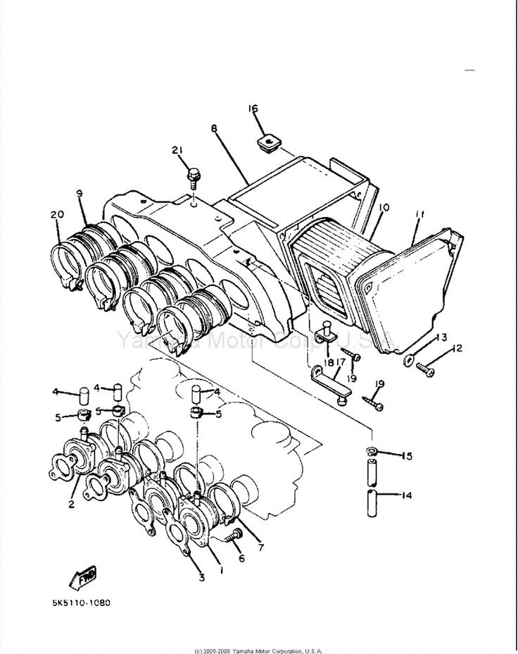 Yamaha Xj550 Intake Diagram Part Number  9