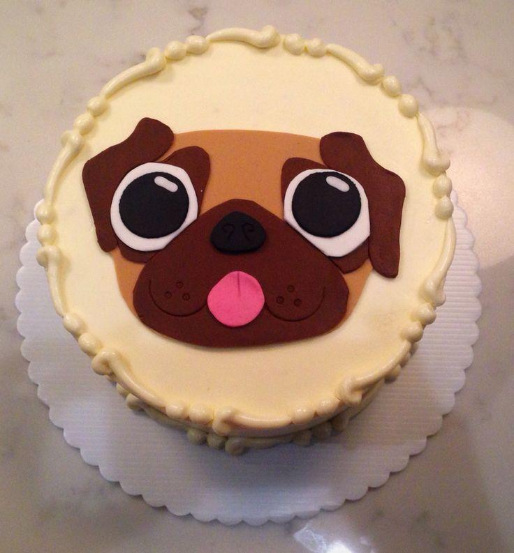 Fondant 2D Pug Cake