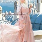 muslima wear 2014-2015 koleksiyonu iç göstermeyen uzun kapalı tesettür elbise modelleri 007
