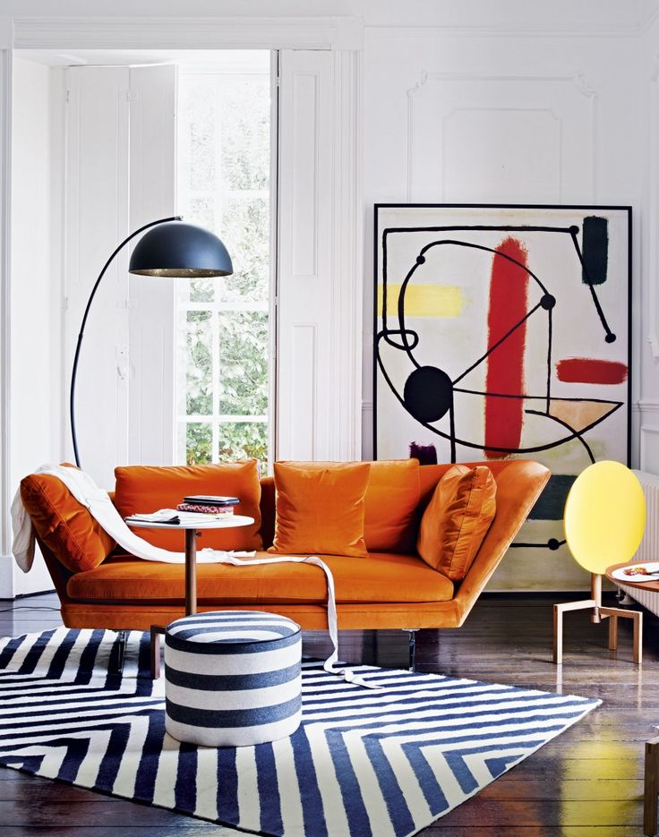 If you love colour then don't be afraid to experiement with different tones and shades. White walls will ensure the scheme doesn't become overwhelming