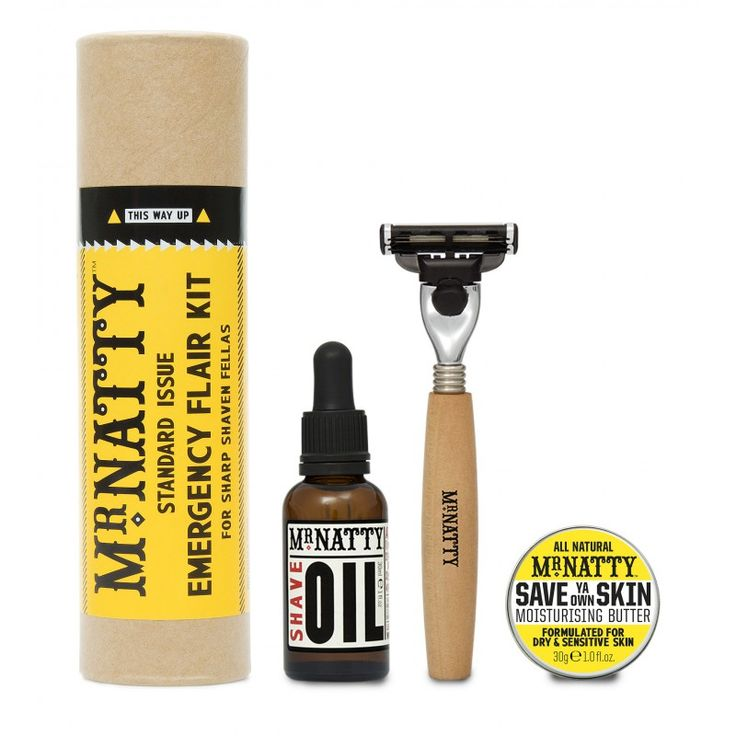 Rasurset - Mr Natty Emergency Flair Kit - Shave like a barber online im Shop für Bartpflege und Bartöl kaufen