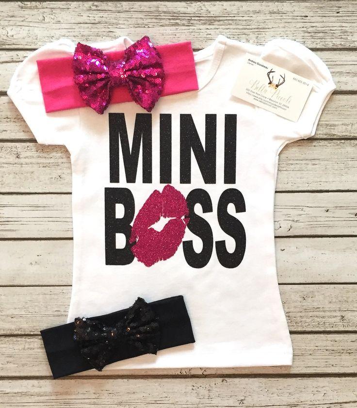 Mini Boss Bodysuit/Shirt for Girls Mini Boss Shirts Bossy Shirts - BellaPiccoli