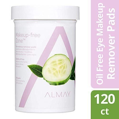 Almay Augen-Make-up-Entferner-Pads, ölfrei, hypoallergen, parfümfrei, 120 Pads – Beauty Care Boss