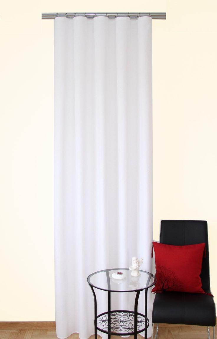 Dekoracyjna zasłona jednokolorowa biała
