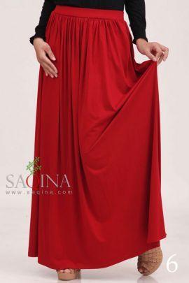 Red plain skirt. Bahan Rayon spandek. Rp. 124.900